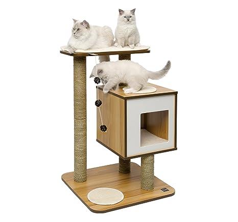 Vesper Mueble Rascador para Gatos, V-Base, Color Blanco