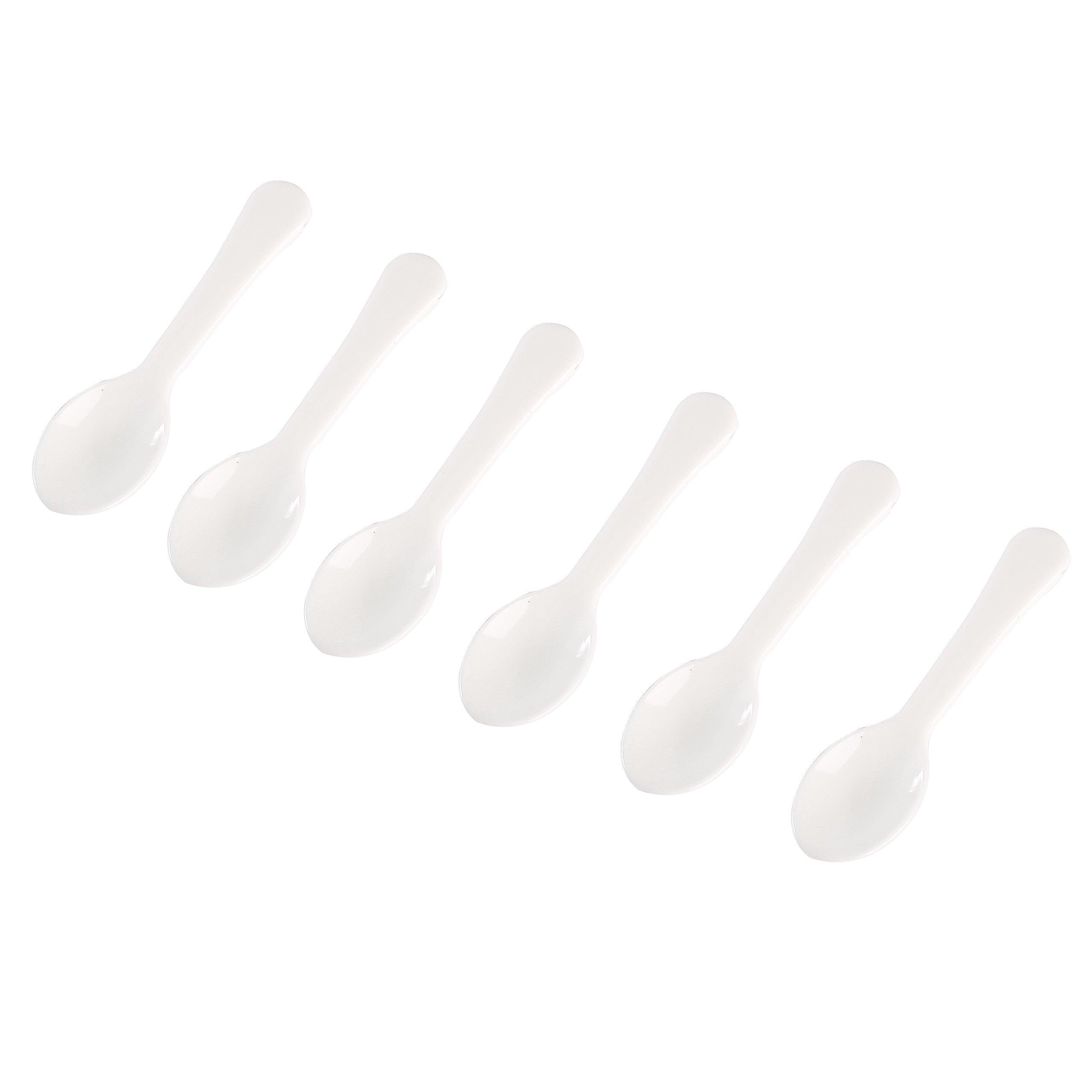 Gmark 3000pc 3'' Taster Spoons Plastic Mini Spoons, Ice Cream Spoons Dessert Spoons White 1 Box Set GM1002E by Gmark