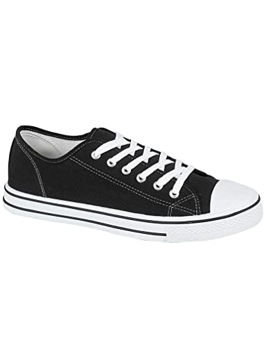 84d760b2c74f Ladies Baltimore Low Top Canvas Toe Cap Lace Up Pumps Plimsoll All Star  Trainers Casual Shoes