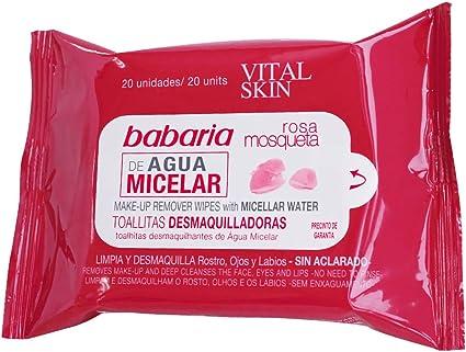 Babaria Toallitas Desmaquilladoras Agua Micelar Vital Skin Rosa ...