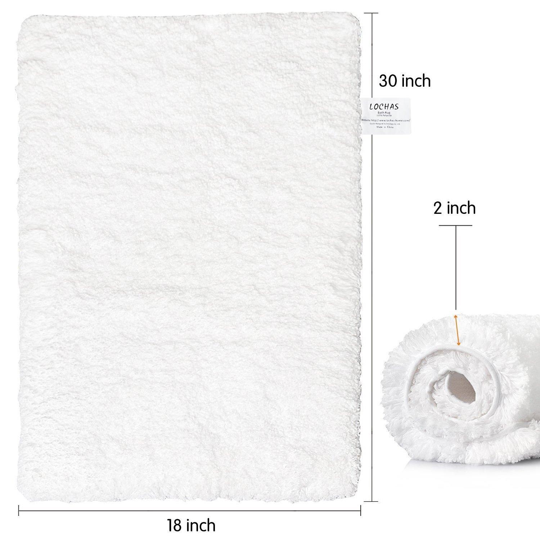 Amazon.com: LOCHAS Soft Shaggy Bath Mat Bathroom Rug Anti-slip ...