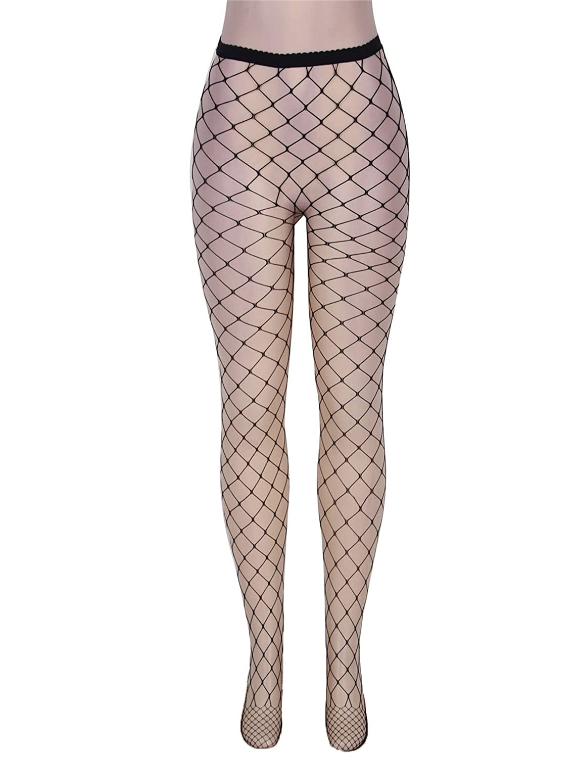 294fefed01f Yummy Bee Tights Whale Net Fishnet Lingerie Hosiery Pantyhose Black Size  8-14(Size M)  Amazon.co.uk  Clothing