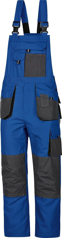 90-110 25-30 Arbeitslatzhose Latzhose Arbeitshose Power blau-grau Canvas-Gewebe 270 g//m/² 3-fachn/ähte Gr.42-68