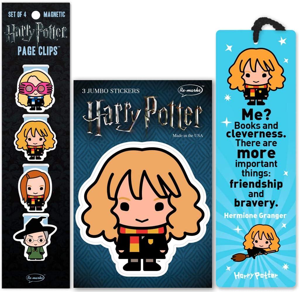 Set de señaladores de libros y stickers de HP (Hermione)
