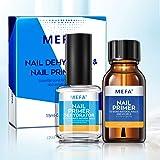 MEFA Professional Natural Nail Prep Dehydrate & Bond Primer Set, Long-Lasting and Fast Air-dry Nail Protein Bonding…