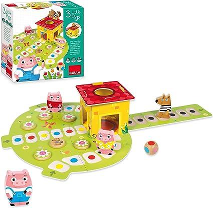 Goula - Juego Los 3 cerditos (53146): Amazon.es: Juguetes y juegos