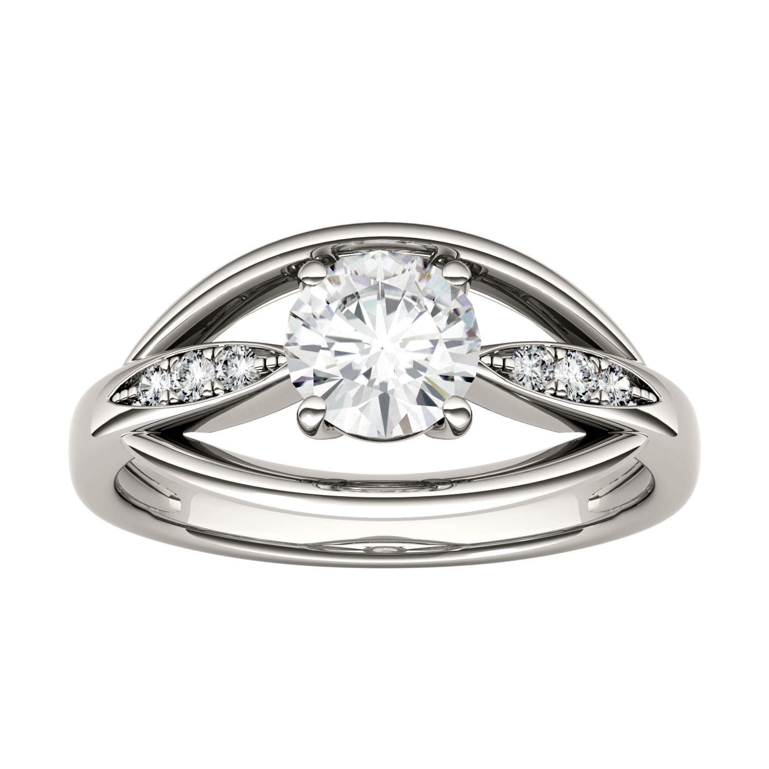 Forever Brilliant Round 6.0mm Moissanite Ring-size 6, 0.87cttw DEW by Charles & Colvard