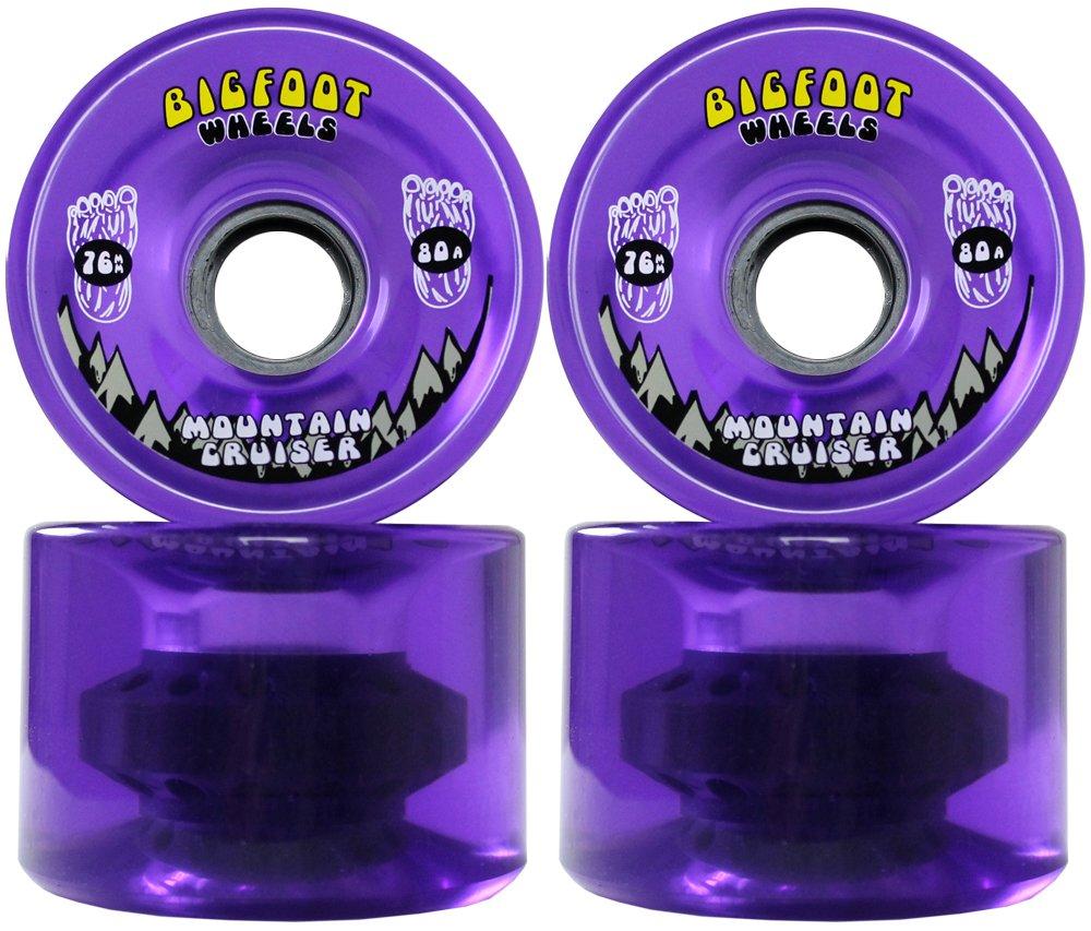 TGM Skateboards Bigfoot Longboard Wheels 76MM 80A SHR Mountain Cruisers Translucent Purple