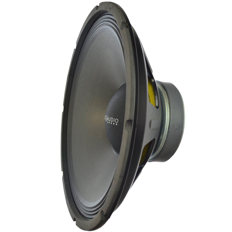 Y-DJ Replacement Bass-Midrange Speaker 15'' 600w Professional Raw Loudspeaker for Pro-Audio