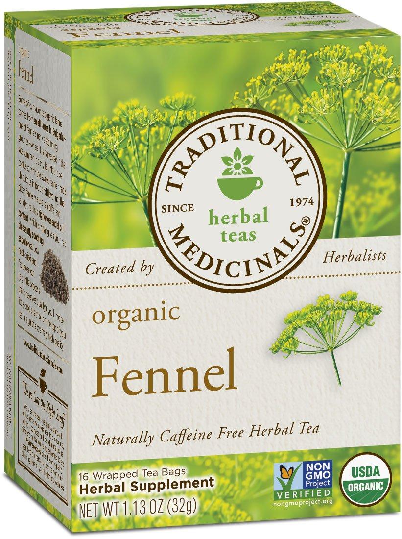 Traditional Medicinals Organic Fennel Tea, 16 Tea Bags (Pack of 6)
