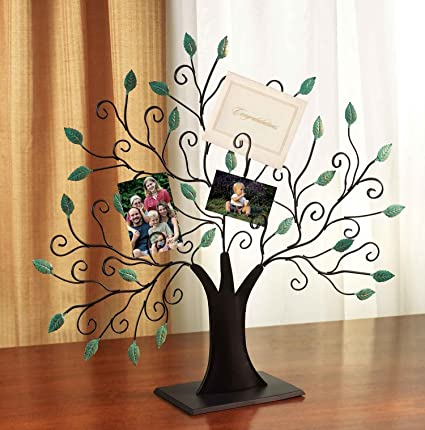 amazon com tree of life picture and card holder frame home kitchen