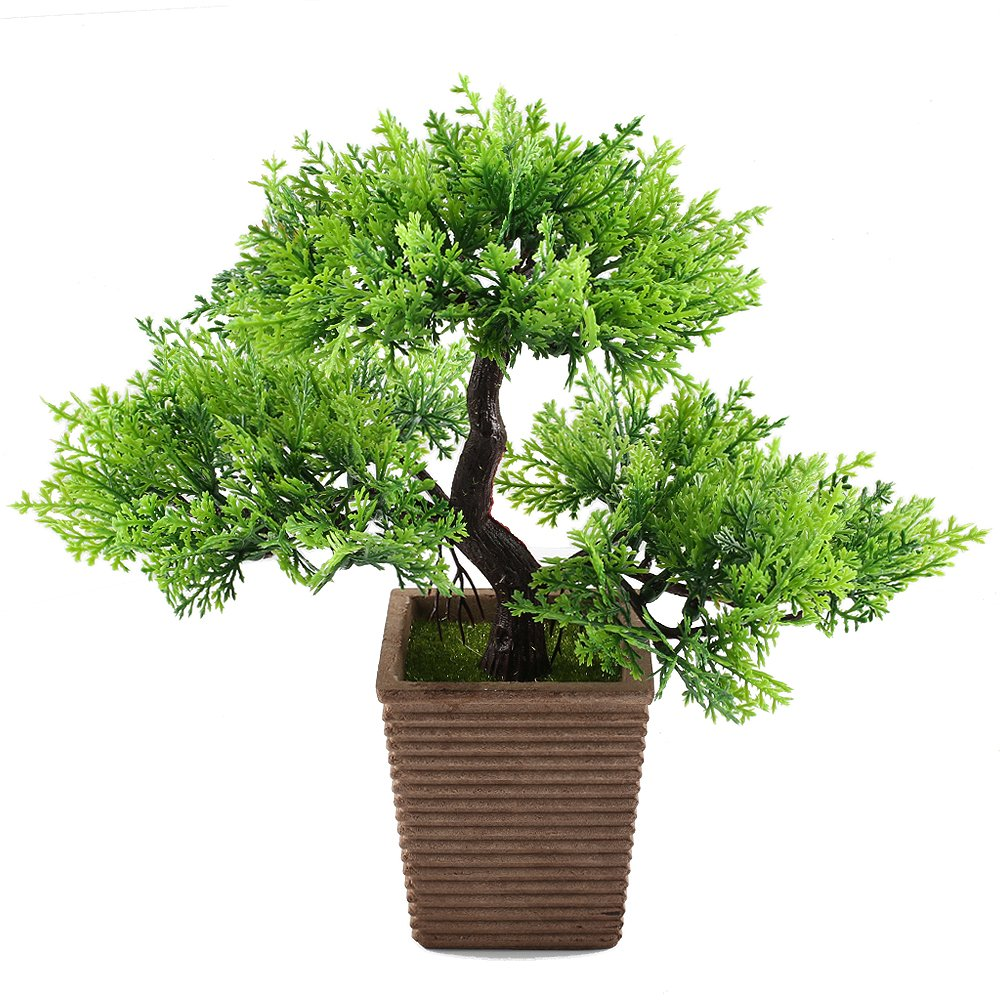 GTidea 10.6 Inch Artificial Cedar Bonsai Trees Fake.