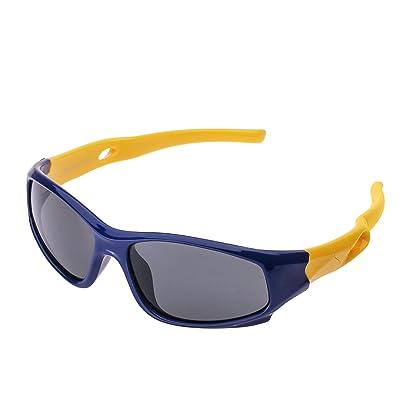 Lunette de Soleil Mixte Enfant Sport Polarisées (3-12 ans) Forepin® UV400 Protection Anti-glare Anti-reflet Ultra Léger Flexible Lunette pour Garçon et Fille