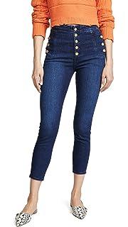 7f9a8c33e203 Amazon.com: J Brand Women's Natasha Sky High Cropped Skinny Jeans ...