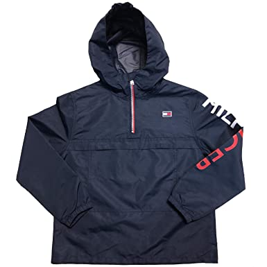 062ced979 Amazon.com: Tommy Hilfiger Boy's Quarter Zip Rain Jacket (Medium 10 ...
