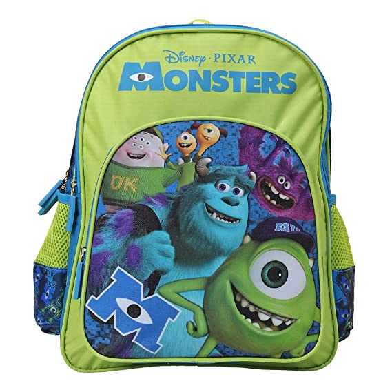 Monsters Polyester 28 cms Green School Backpack (MBE-WDP1370)