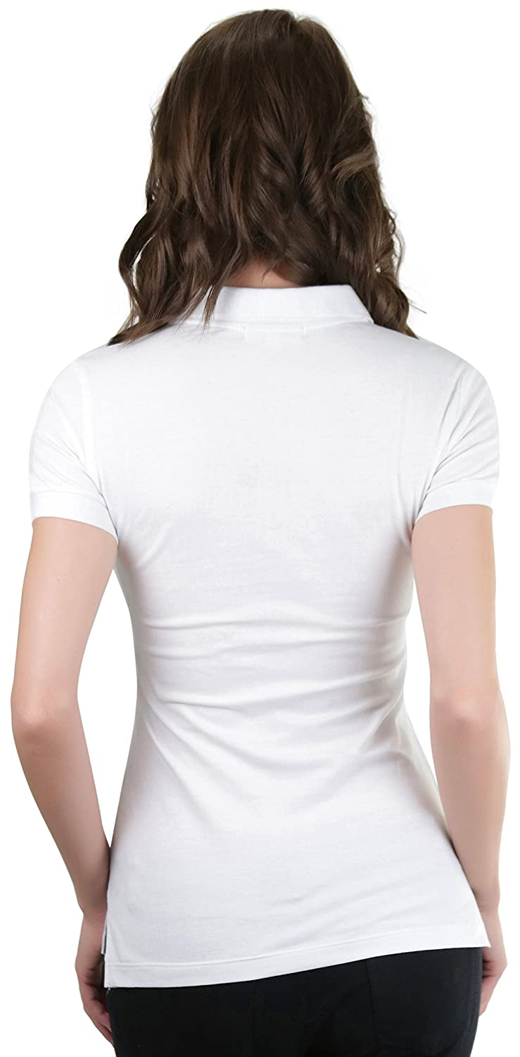 ToBeInStyle Womens Classic Short Sleeve Jersey Polo Top