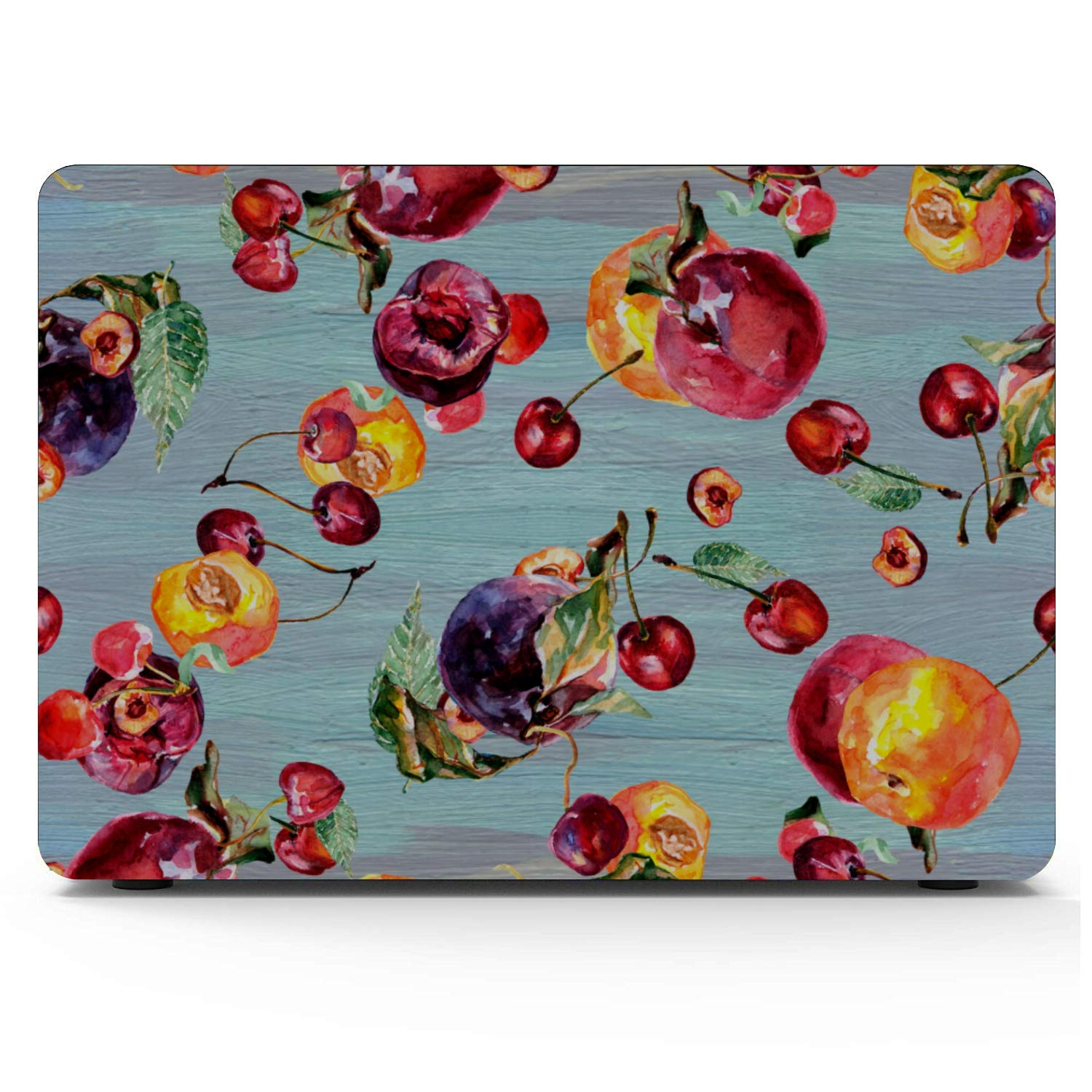 2017 MacBook Pro Case Summer Sweet Fruit Yellow Peach Canned Plastic Hard Shell Compatible Mac Air 11 Pro 13 15 A1707 MacBook Pro Case Protection for MacBook 2016-2019 Version