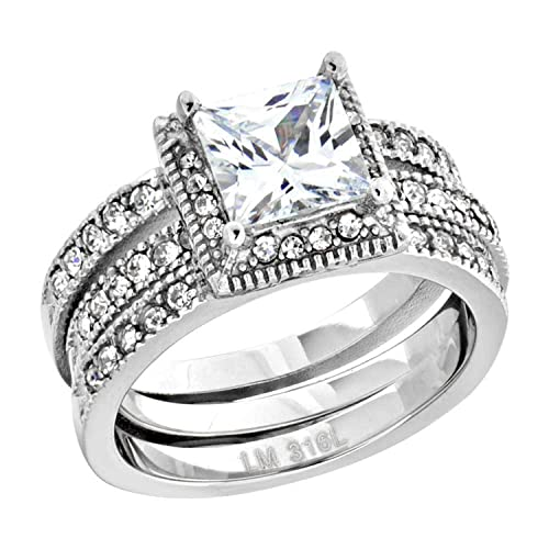 Engagement Rings Womens 2.0 Carat Round Cut Wedding Engagement Anniversary Ring Silver Size 5-10 Delicacies Loved By All