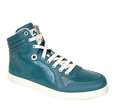 d15de2b0f9d Amazon.com  Gucci Aqua GG Imprime High top Sneakers 343135 4715  Shoes