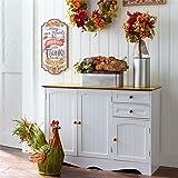 Amazon.com: Brylanehome Country Kitchen Corner Cabinet