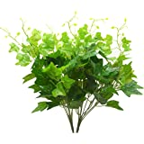 Bird Fiy Artificial Greenery Silk English Ivy Leaves Fake Bouquet Simulation Greenery Bushes Indoor Outside Home Garden Office Verandah Wedding Décor 2PCS Artificial Plants