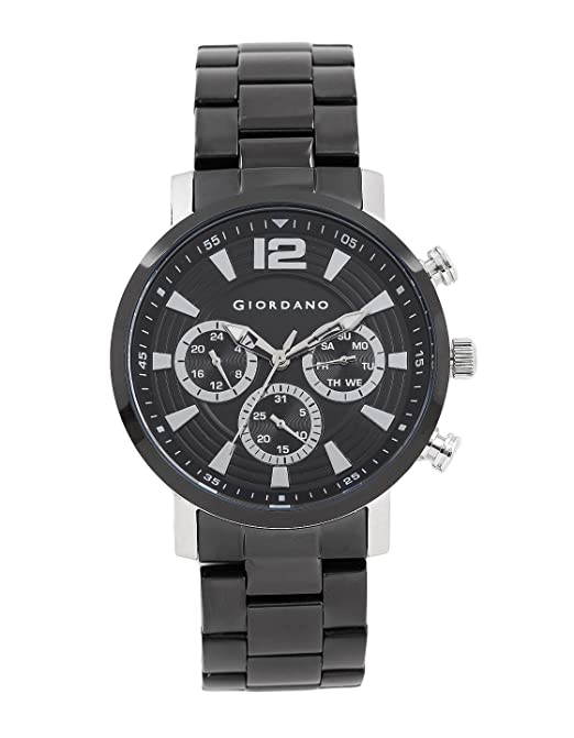 Giordano Analog Black Dial Men's Watch-1829-11 Men's Watches at amazon