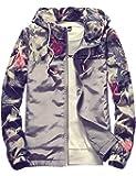 (アッシュランゲル)ASHERANGEL メンズ アウター ジャケット ブルゾン 男女兼用 ウインドブレーカー 春秋冬 プリント柄 マウンテンパーカー 防風 メンズファッション おしゃれ 全5色