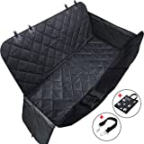 Dog Seat Cover for Pets, Pet Hammock with Convertible Extra Side Flaps & Waterproof &Scratch Proof &Nonslip & Durable &Machine Washable-for Cars Trunk and SUVs,Bonus Safety Seat Belt and Carry Bag