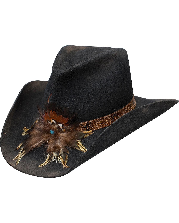 Charlie 1 Horse Unisex Sturgis Felt Hat Black 7 3/4