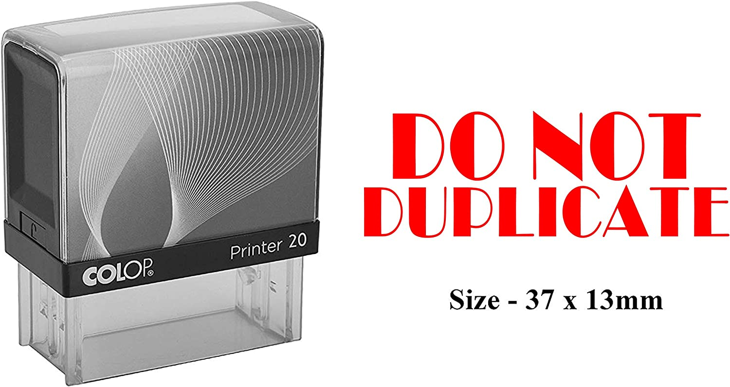 PrintValue Do Not Duplicate colop Stamps Personalized Teacher Stamps self Ink Rubber colop Printer 20 Stamp