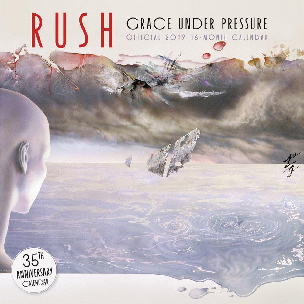 Rush 2019 12 x 12 Inch Monthly Square Wall Calendar by Bravado, Music Progressive Rock Band