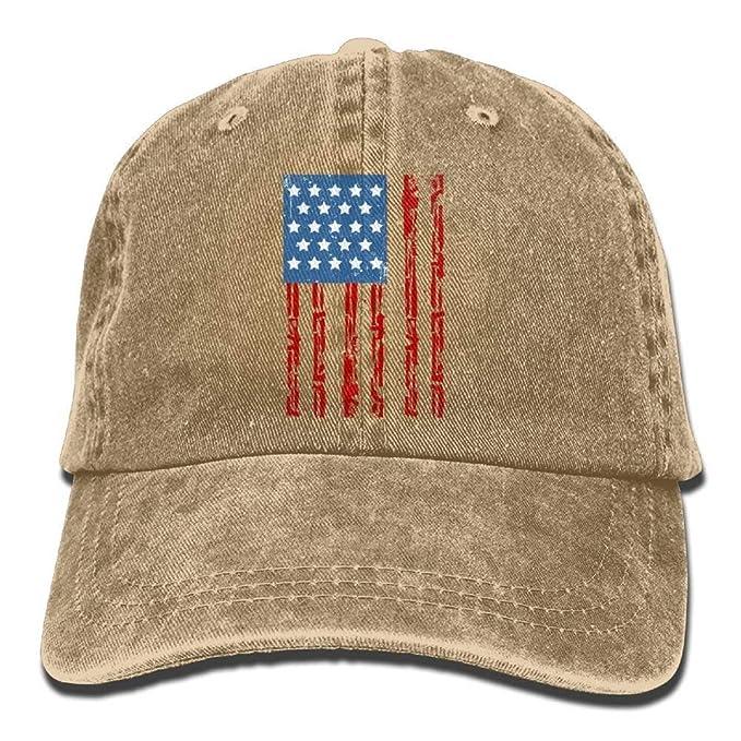 d891d0c39 Amazon.com  Melvin L Cl American Flag Denim Hat Adjustable Unisex ...