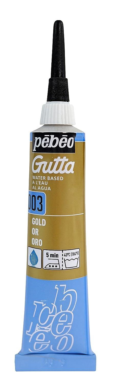 Pebeo Setasilk Silk Painting Water Based Gutta 20-Milliliter Tube, Gold Pebeo Fabricant de Couleurs 147-003