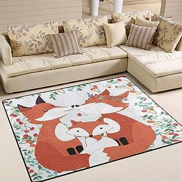 Amazon.de: Jstel Ingbags Teppich in Fuchs-Design, für Wohnzimmer ...