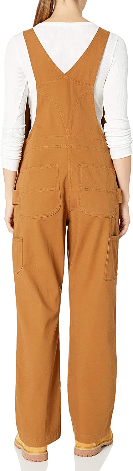 Carhartt Womens Crawford Double Front Bib Overalls Medium Brown