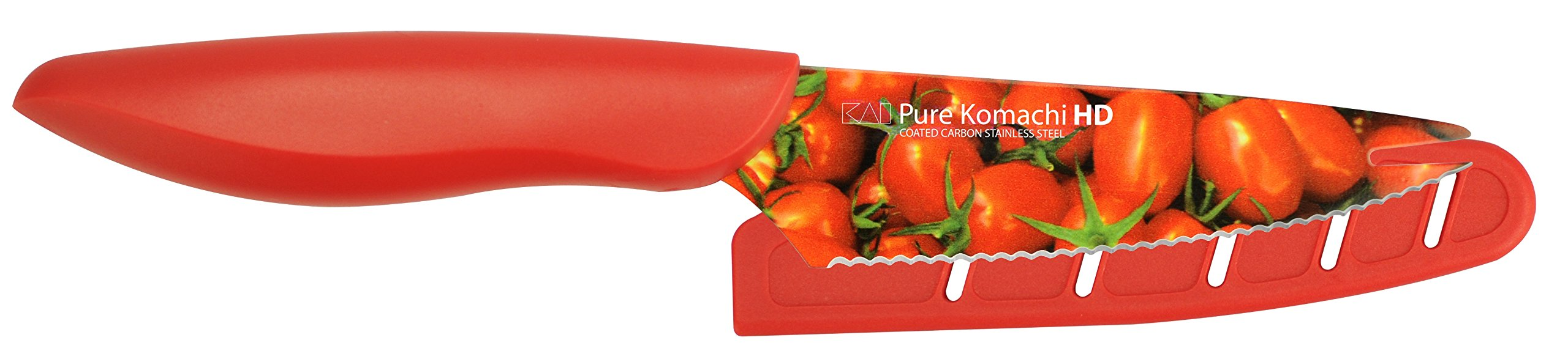Kai USA Pure Komachi 2 AB9004 HD Photo Tomato Knife, 4-Inch, Tomatoes