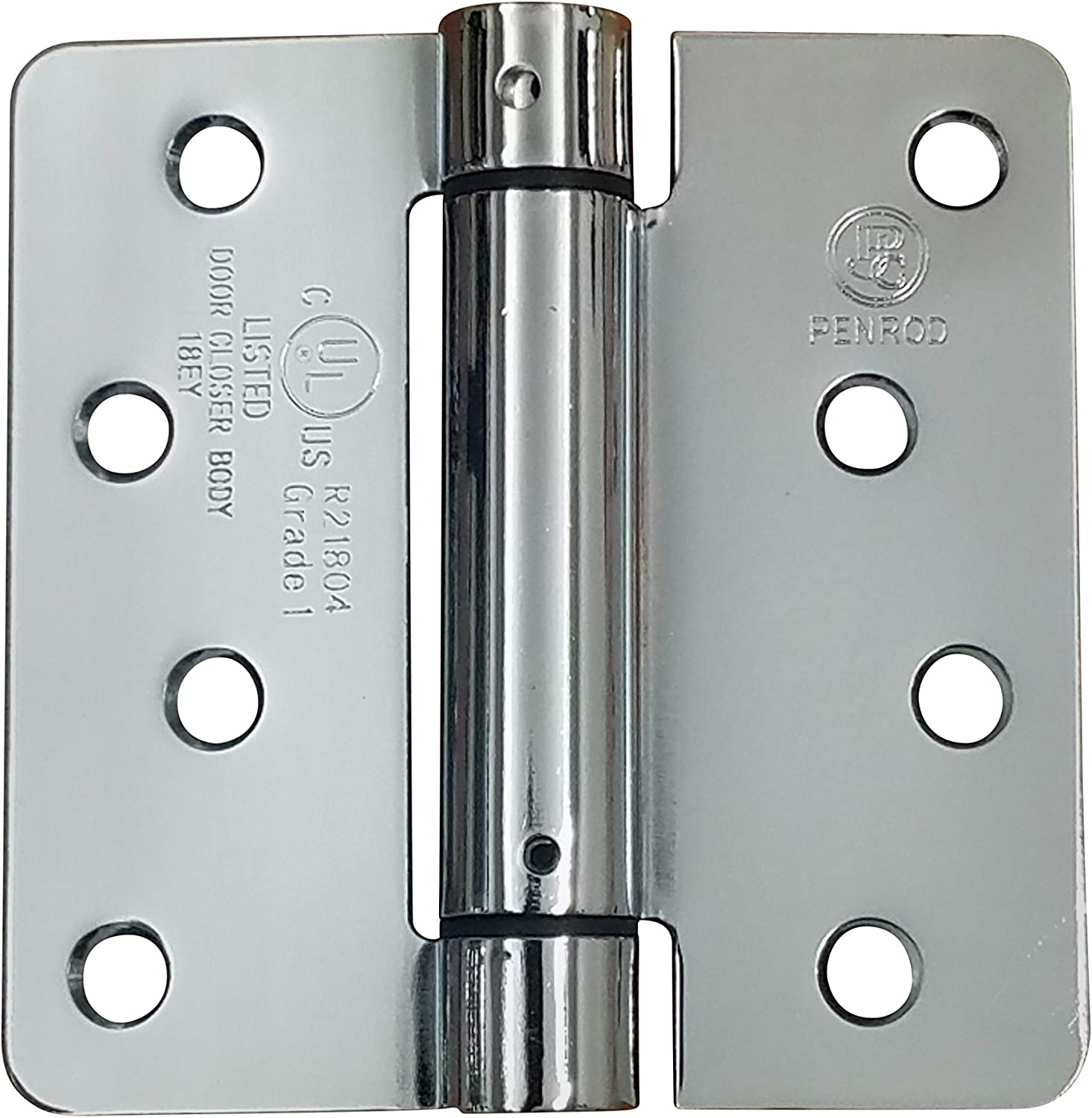 Spring Hinges Adjustable Self Closing 4 Inch With 1 4 Inch Radius Polished Chrome 2 Pack Amazon Com