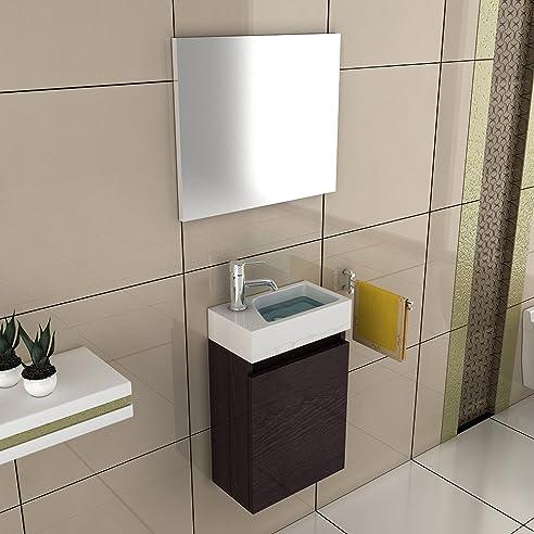 Badezimmer Möbel Waschtisch 40x22 mit Unterschrank in der Farbe ... | {Gästebad möbel 32}