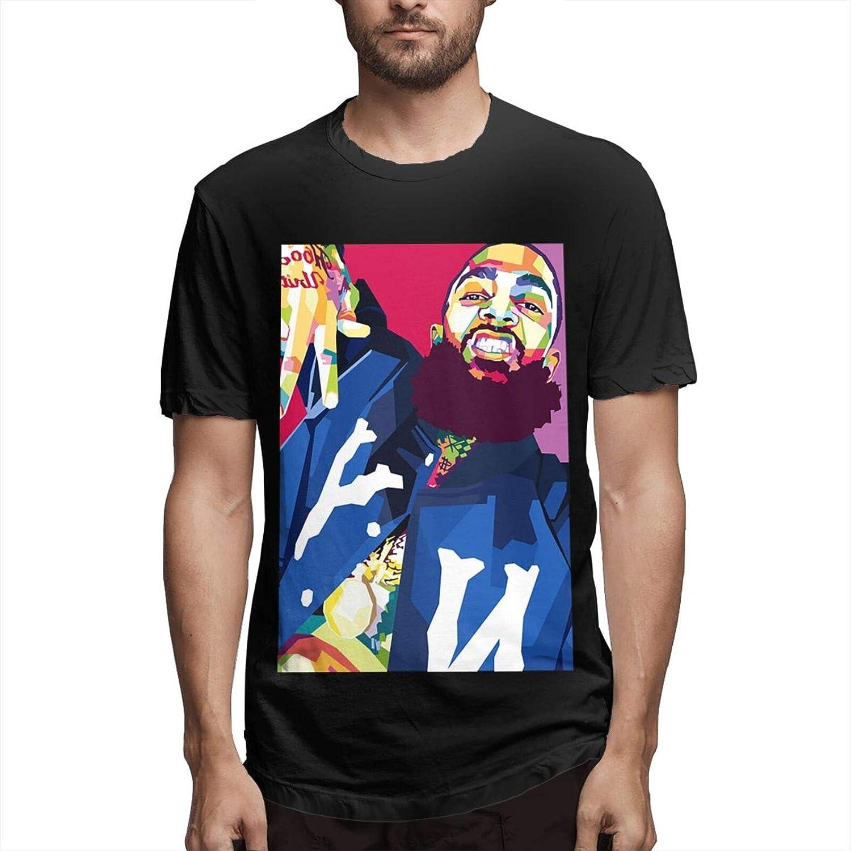 Men's Nipsey-Hussle T-Shirt Hip Hop Sweatshirt Rapper Tee Crenshaw Love California Shirt Cotton Short Sleeve Casual Tops
