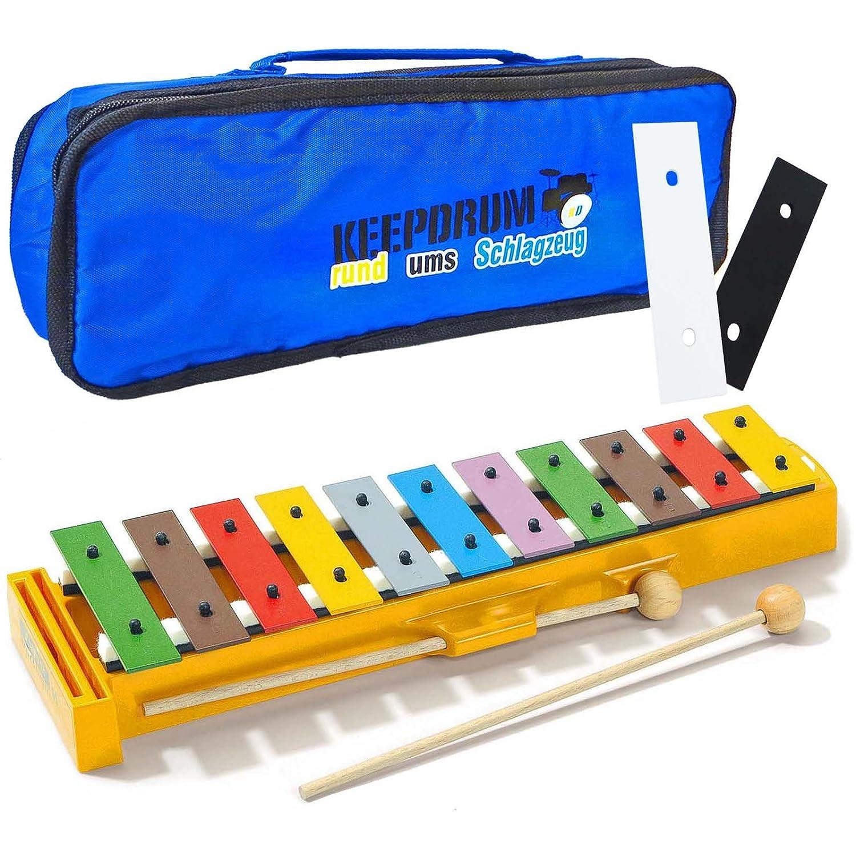 Sonor GS PLUS Glockenspiel + 2 Erweiterungs-Klangstäbe F#/Bb + KEEPDRUM Trage-Tasche gs+