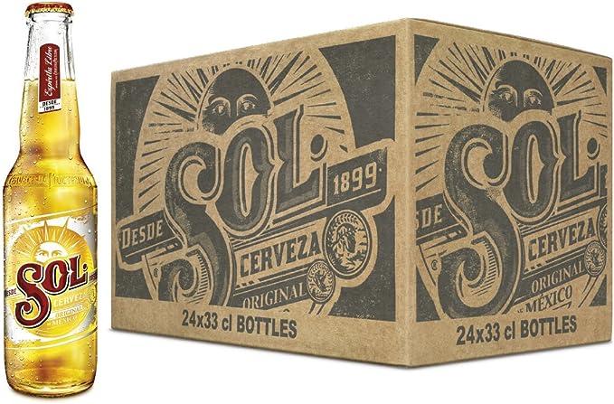 Sol Cerveza - Paquete de 24 Botellas x 330 ml - Total: 7.92 L ...