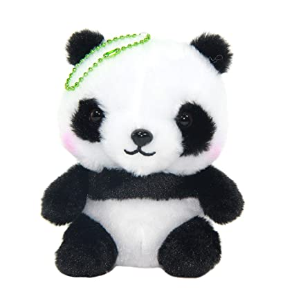Amazon.com: Panda Peluches lindo llavero Animal de peluche ...