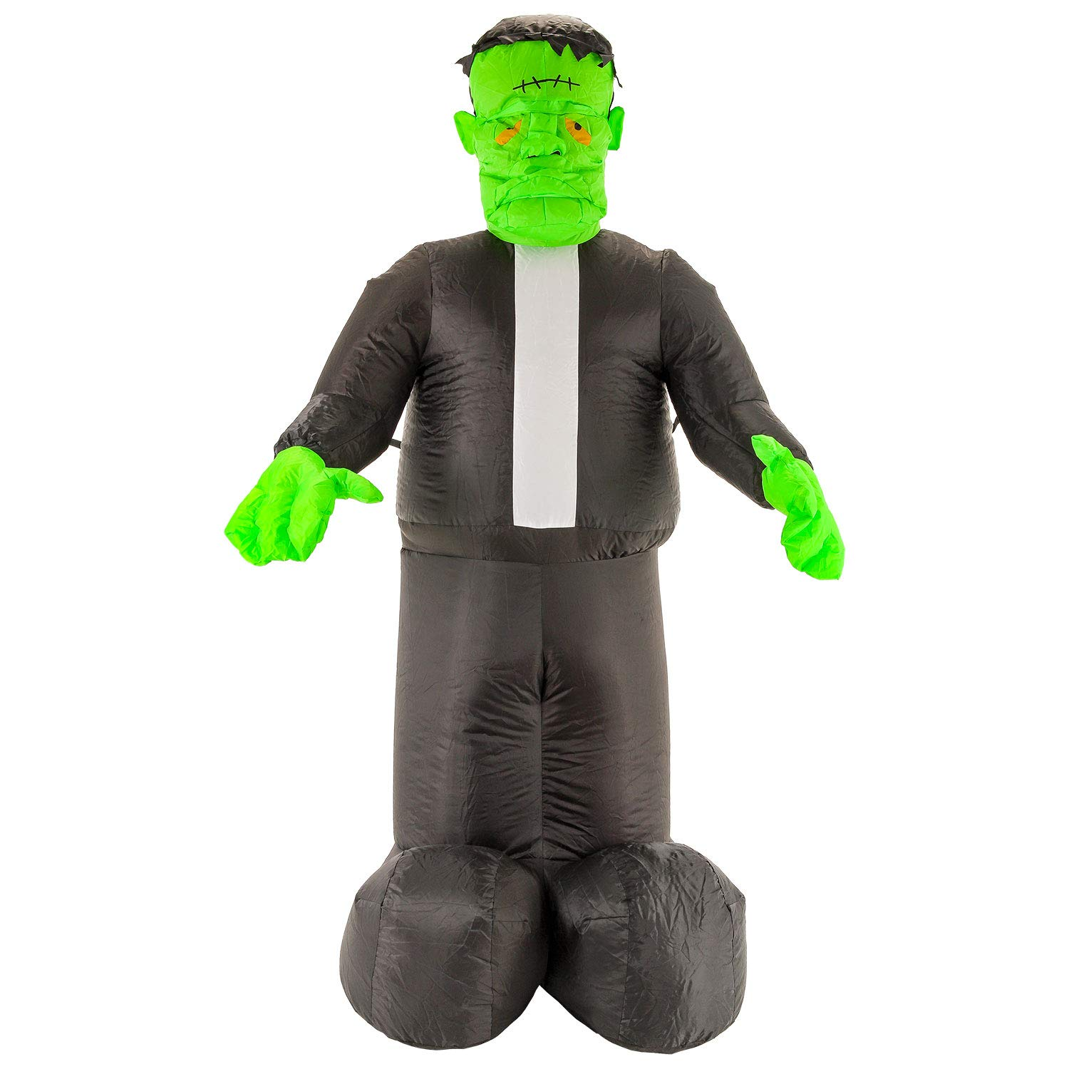 Halloween Haunters 7 Foot Inflatable Frankenstein Monster with LED Lights Indoor Outdoor Yard Lawn Prop Decoration - Blow Up Haunted House Party Display