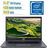 2018 Acer Chromebook 14.0-inch LED Anti-glare HD (1366x768) Display, Intel Celeron 3855u processor, 4GB LPDDR3, 16GB eMMC SSD, HDMI, Bluetooth, 802.11a Wifi, Intel HD Graphics, Google Chrome OS