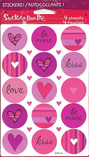 Amazon Love Theme Round Scrapbook Stickers Uvst071n
