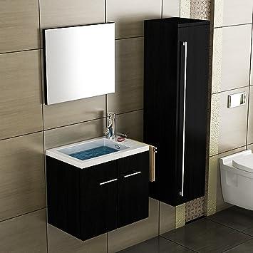 Badezimmer möbel 50 cm breit waschbecken rechteckig design spiegel ...