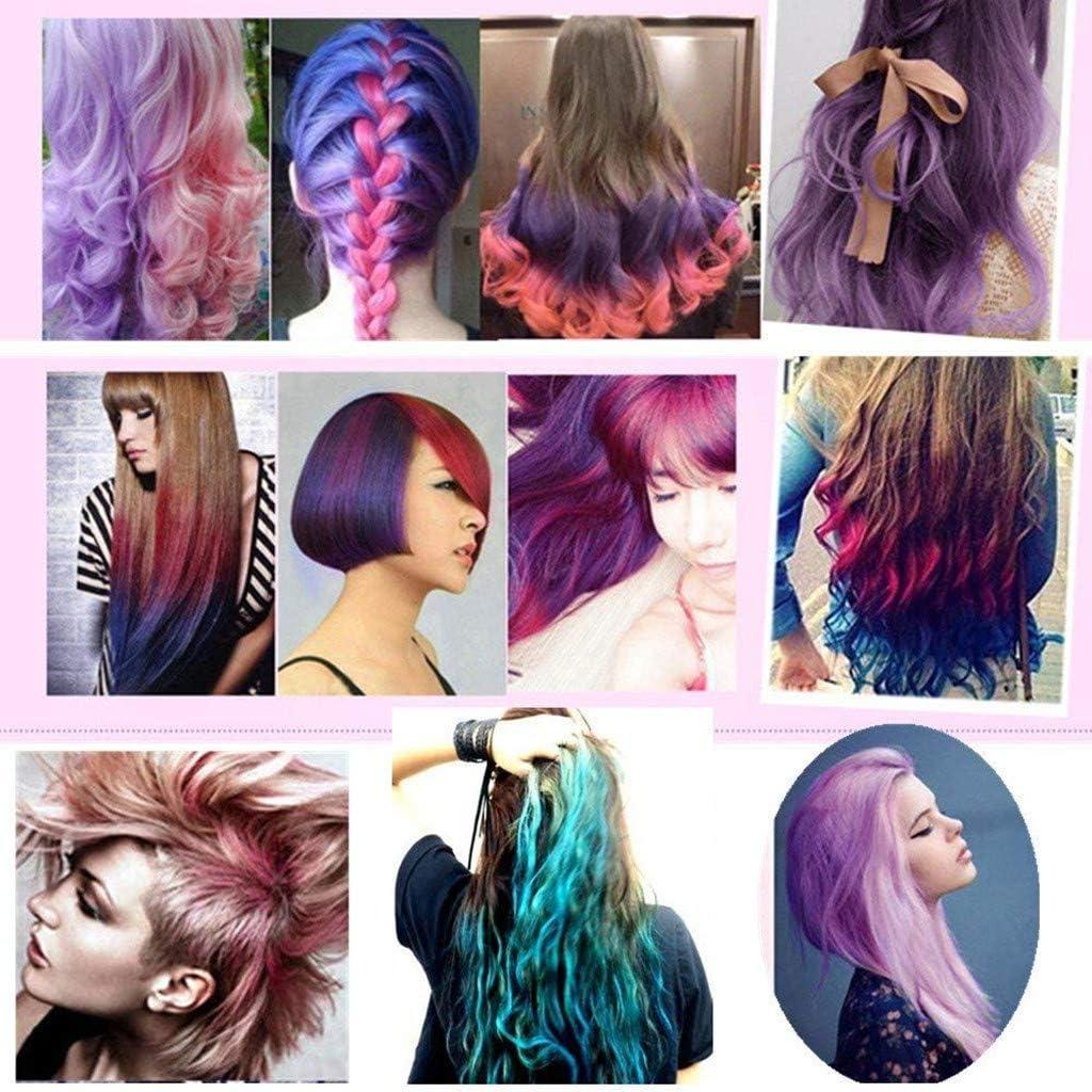 6 piezas DIY Tizas para el cabello brillante color de cabello ...