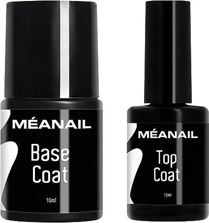 Top Coat y Base Coat Permanente Uñas Gel UV LED Manicura y ...