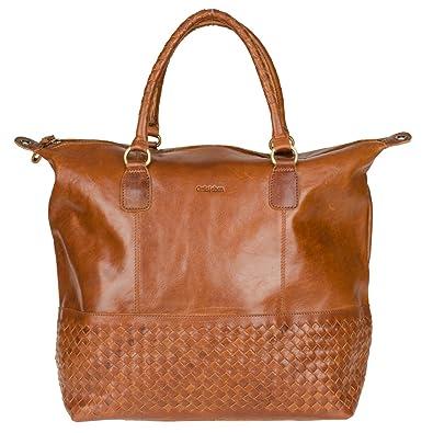 c16f1f83fc9c3 Gräschen Fräulein Charlotte Shopper Tasche Leder 36 cm  Amazon.de ...